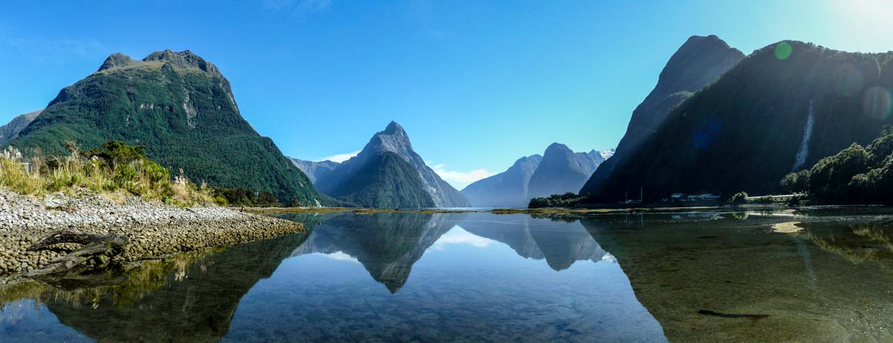 fjordland nationalpark milford sound panorama